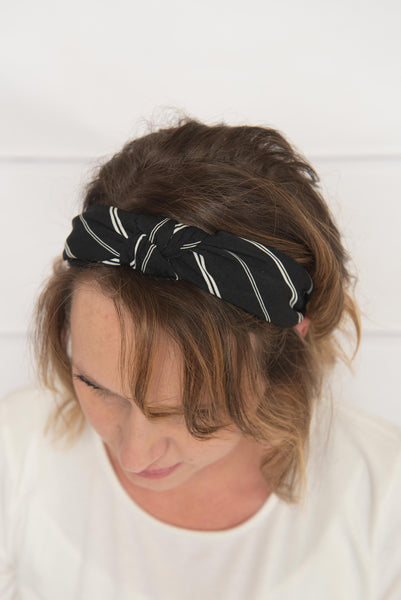 navy knotted headband