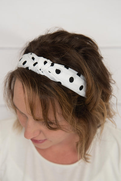 white striped headband