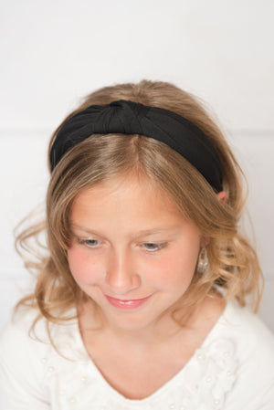 black knotted hard headband