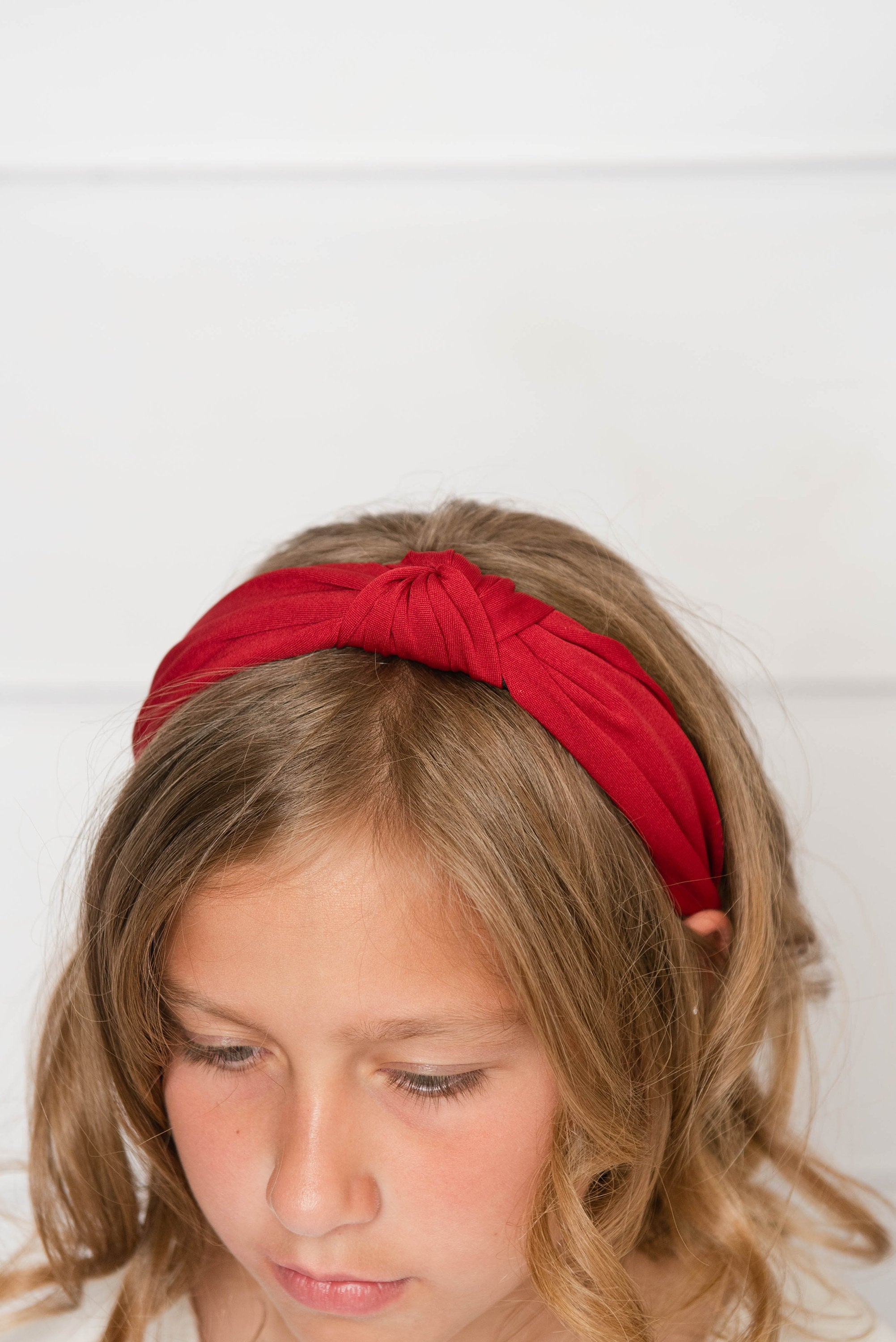 red knotted hard headband for girl, red womens hard headband for women, red girl headband, red knotted headband for women's headband, turban