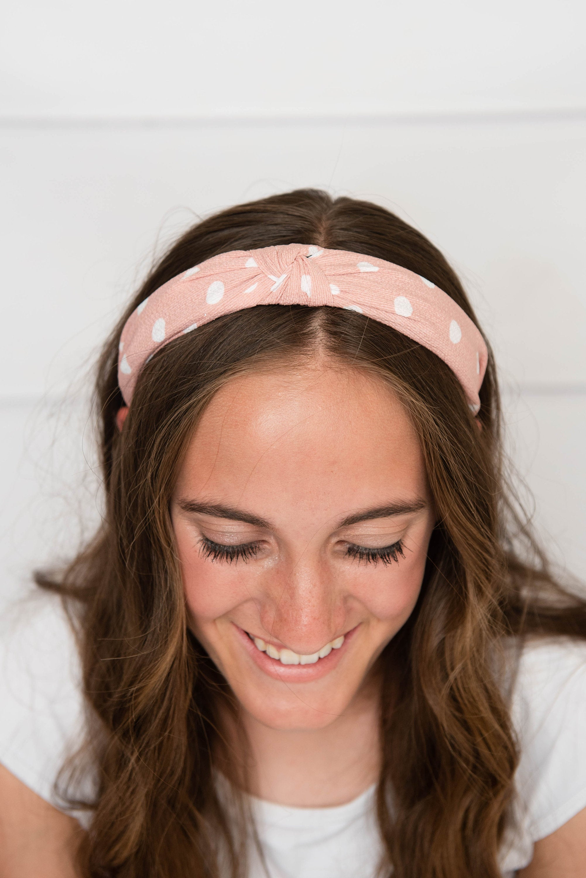 Pink knotted hard headband for girl, womens hard headband for women, pink girl headband, knotted headband for women's headband, pink turban