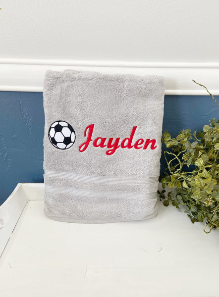 Personalized Father's Day gift, embroidered fathers day gift, Personalized towels, embroidered bath towel, personalized bath towel dad towel