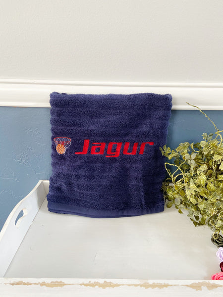 Personalized basketball towels, embroidered bath towel, personalized bath towel, basketball team towel, sports towel, basketball party favor
