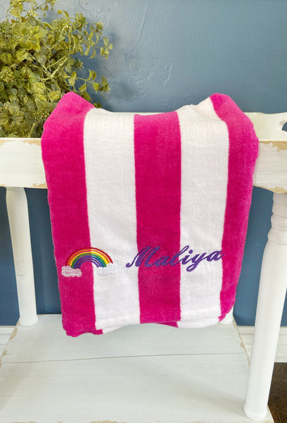 Personalized beach towel, unicorn towel, girl birthday gift, custom beach towel, unicorn bath towel, unicorn beach towel, custom beach towel