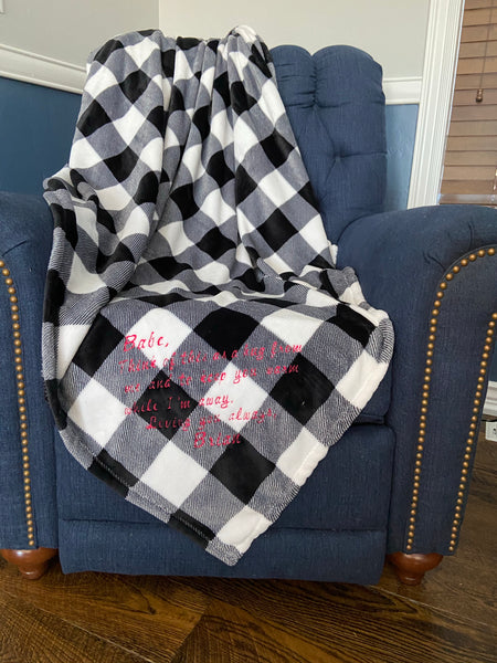 Letter to Loved one Blanket