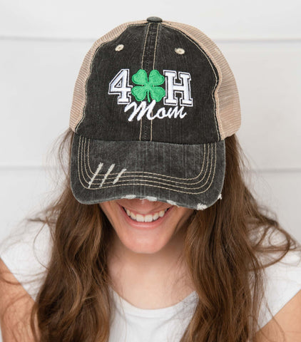Custom Embroidered 4-H Mom Trucker Hat
