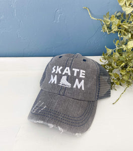 Ice Skate Mom Hat