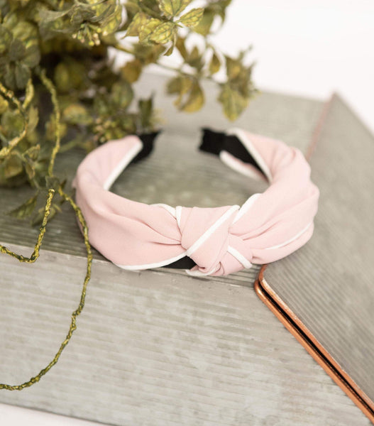 Blush Fabric Knotted Hard Headband