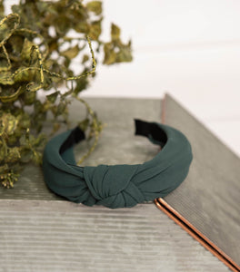 Forest Green Knotted Headband