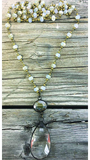 BlueBell Pale Champagne Necklace with Brass