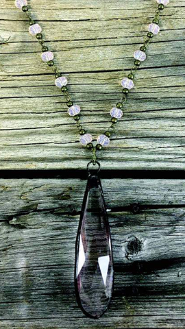 SnowDrop Pale Pink Necklace