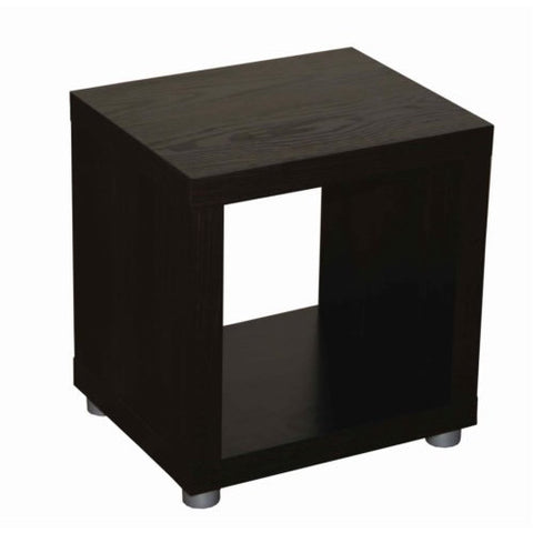 Caro - 1x1 Cube, Bookshelf or Sidetable, walnur veneer color