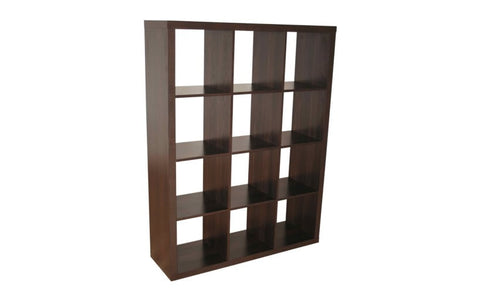 Caro - 4x3 Bookshelf / Room divider, walnut - Designs By Phoenix - Furniture - 1