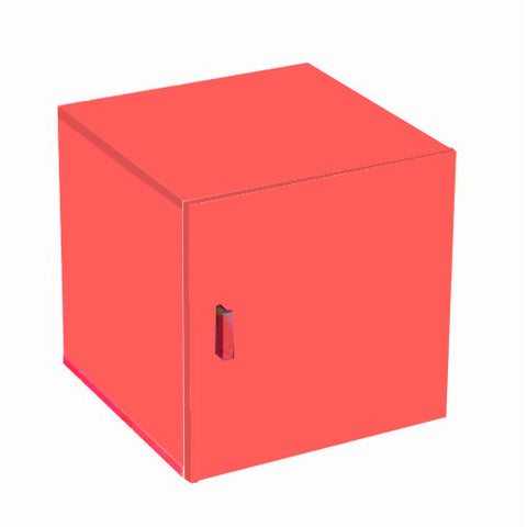 Stor' It - Doorcontainer with 1 Door, red veneer color