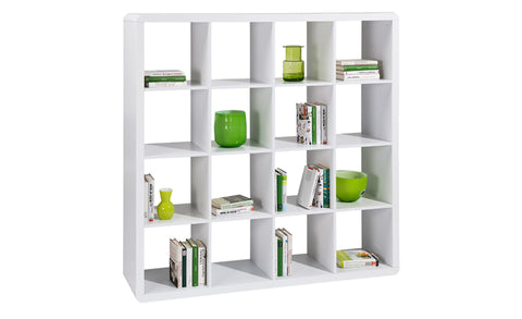 Prana - 4x4 Shelf with white high gloss finish, round corners - Designs By Phoenix - Furniture - 1