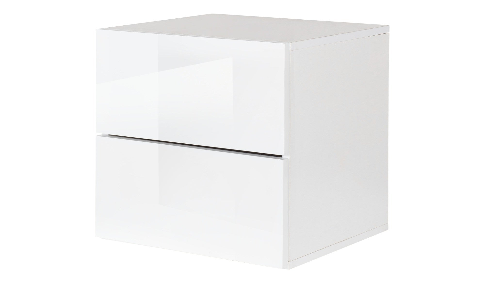 Prana   Drawer Container With White High Gloss Finish, Push Open System
