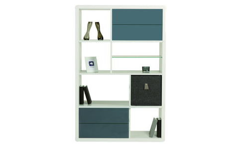 Leonardo - Shelf with 8 asymmetric fields, with high gloss, round edges - Designs By Phoenix - Furniture - 1