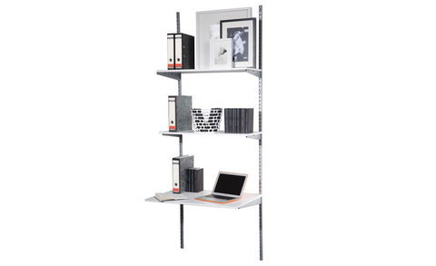Staxx - Wallshelf for Office, white and silver - Designs By Phoenix - Furniture - 1