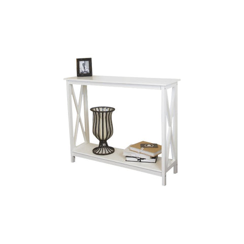 Country decorative console table - buffet, white
