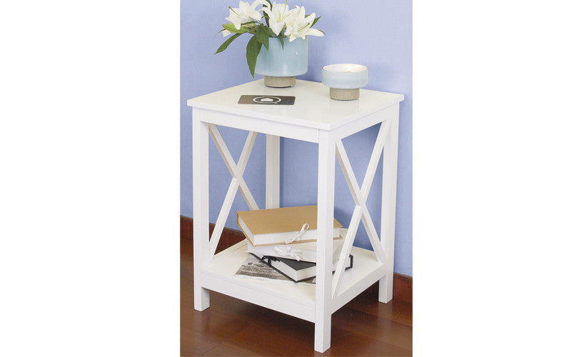 ... Country   Side Table With 1 Floor, White Lacquered, Country Style    Designs By ...