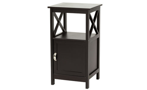 Country - Side Table with Door, black coffee - Designs By Phoenix - Furniture - 1