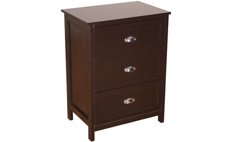 Country - Commode with 3 Drawers, black coffee - Designs By Phoenix - Furniture - 1