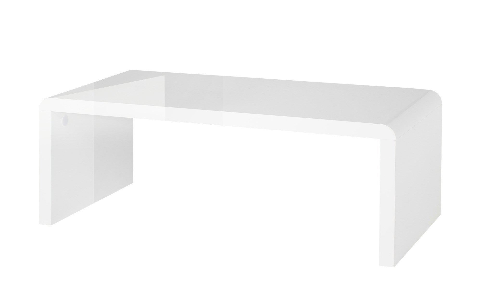 Prana Coffee table with round corners white high gloss finish