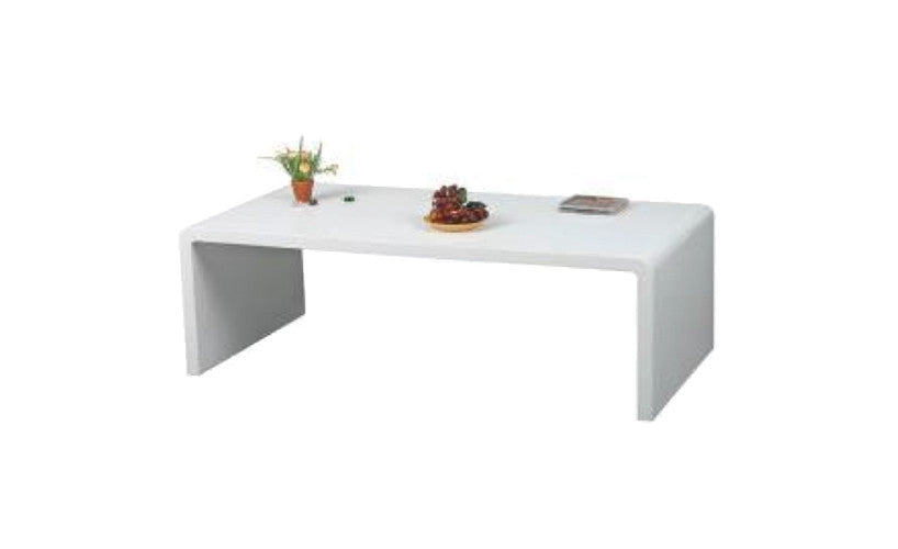 Prana   Coffee Table With Round Corners, White High Gloss Finish   Designs  By Phoenix ...