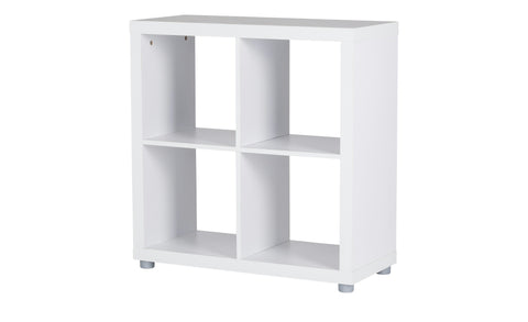 Caro - 2x2 Shelf, white veneer, including plastic feet - Designs By Phoenix - Furniture - 1
