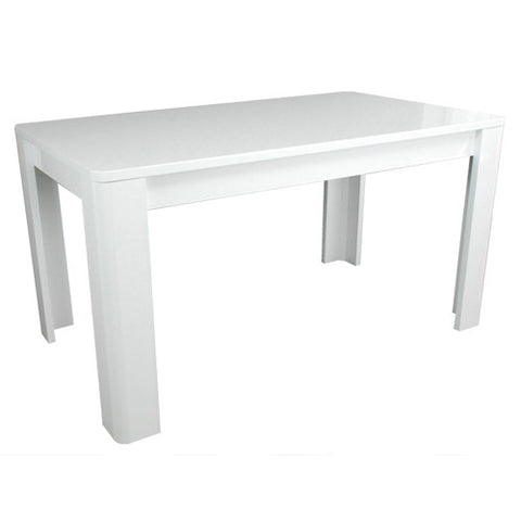 Prana - Dining Table, white highgloss finish