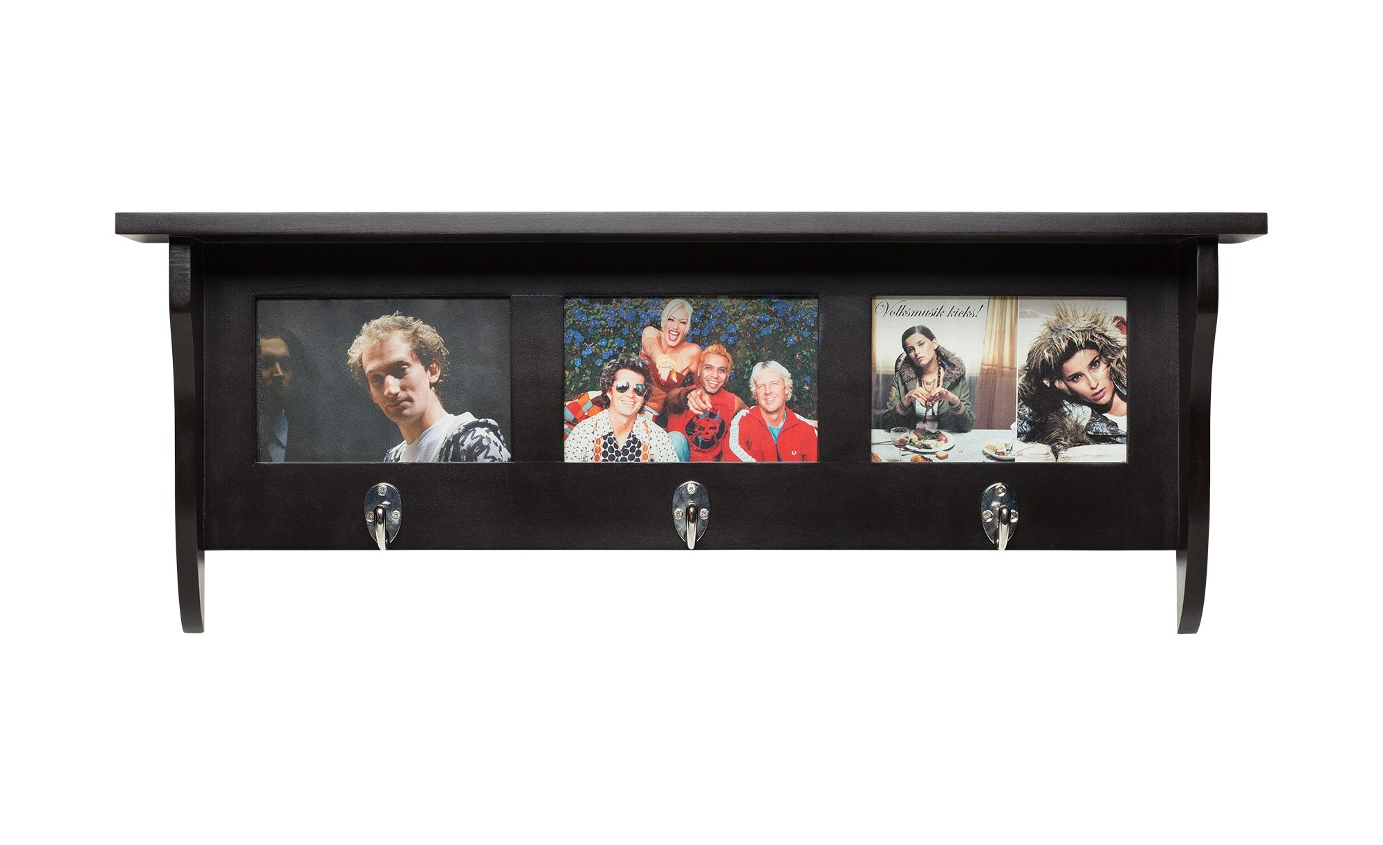 Country Wallshelf With Hooks Coat Rack With Hooks And Picture