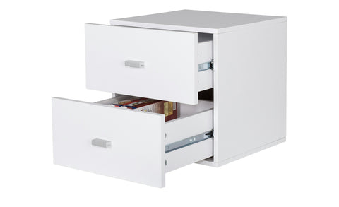 Caro - Drawer Container for all melamine Shelves, white - Designs By Phoenix - Furniture - 1