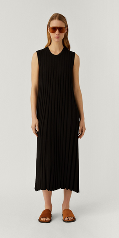 JOSEPH DRESS TEXTURED RIB IN BLACK