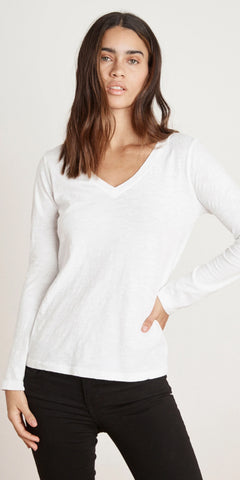 VELVET BLAIRE LONG SLEEVE V NECK TEE