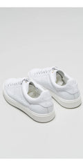 DEPARTMENT OF FINERY TOMMY SNEAKERS IN WHITE