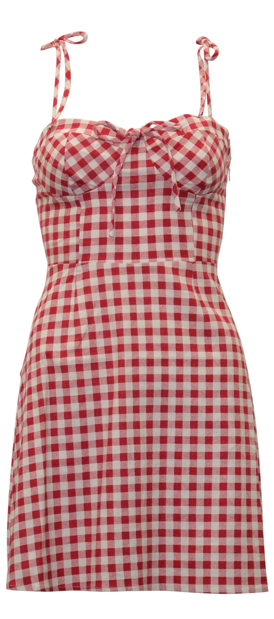 Wayf Red Gingham Dress