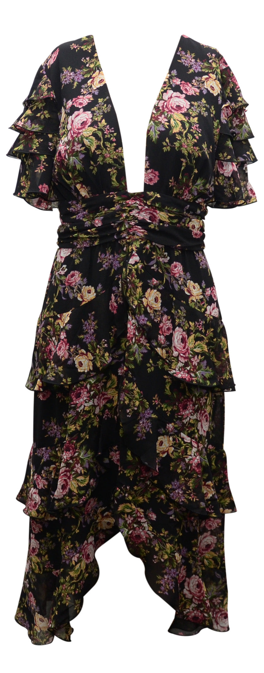 Wayf Fall floral dress