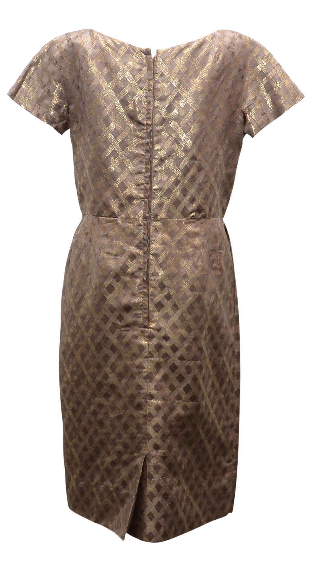 Metallic print vintage dress
