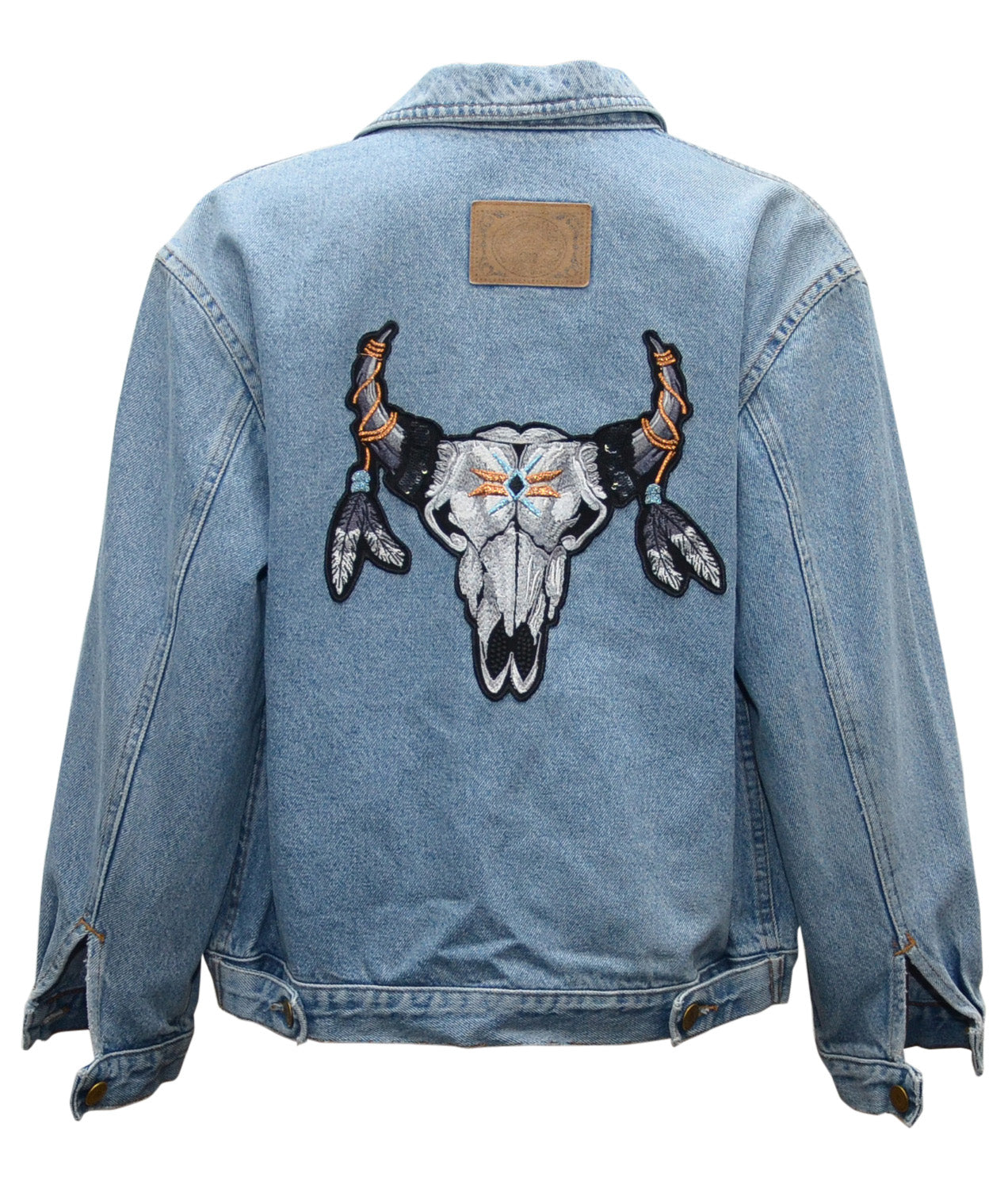 Custom Skull Denim Jacket