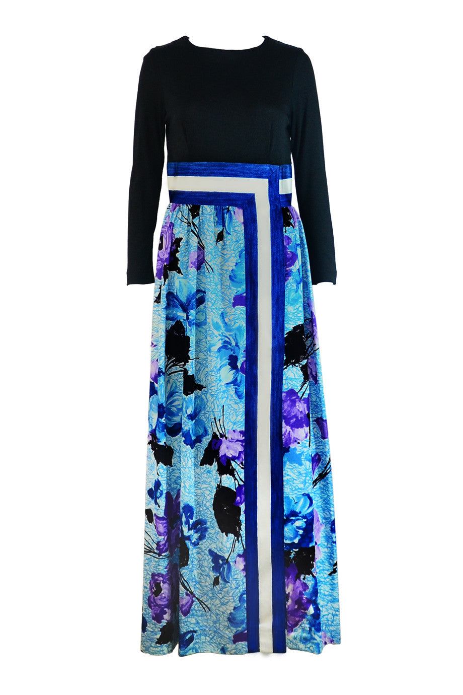 Black Blue Maxi Dress