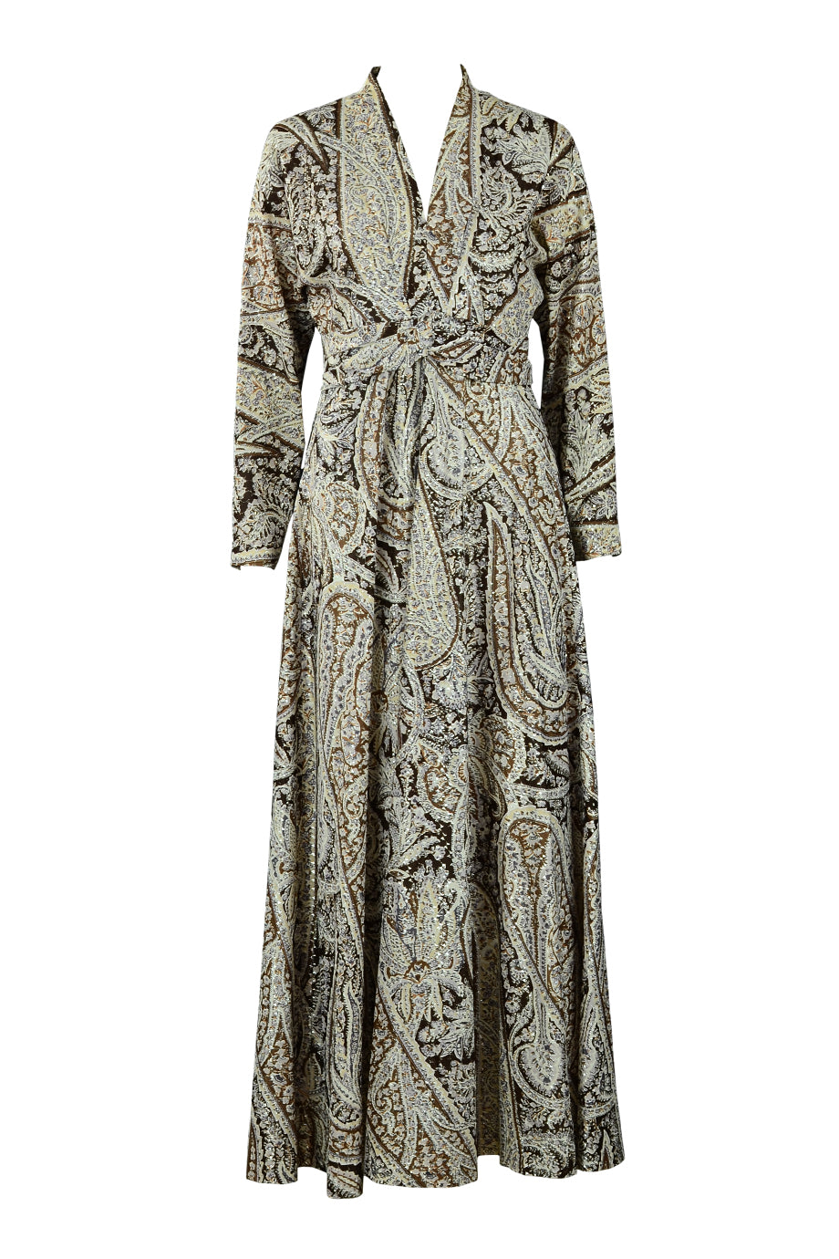 Paisley Metallic Gown