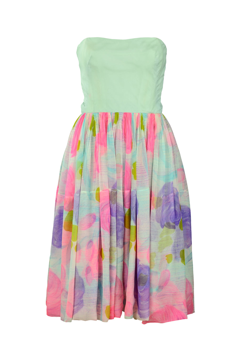 Soft pastels floral dress