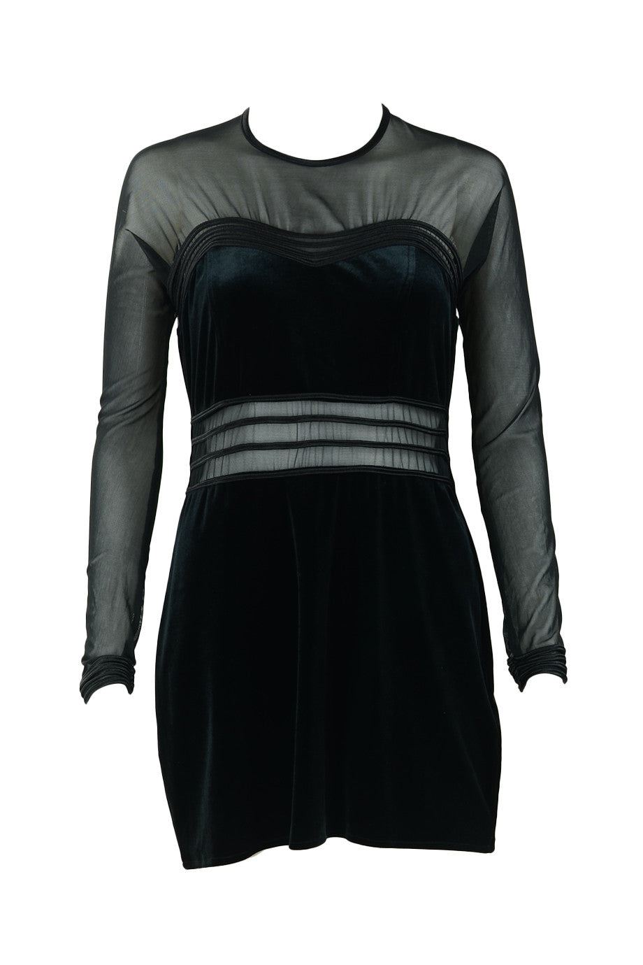 Black Paneled Dress