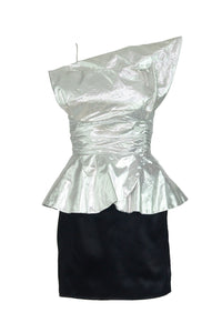 80's Metallic Dress