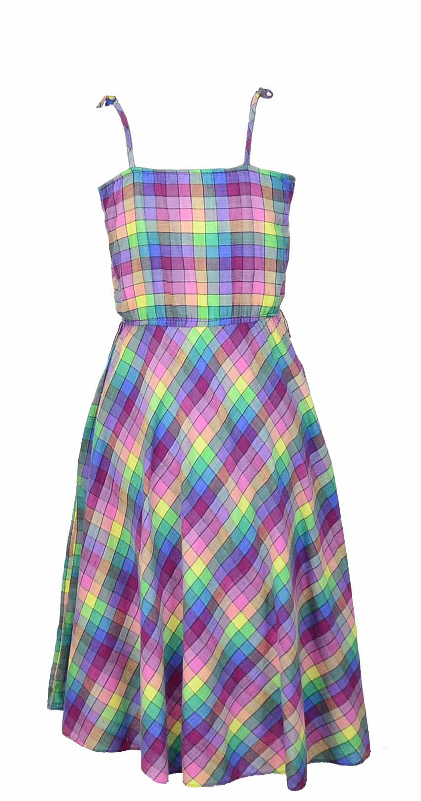 Plaid 70's Sundress