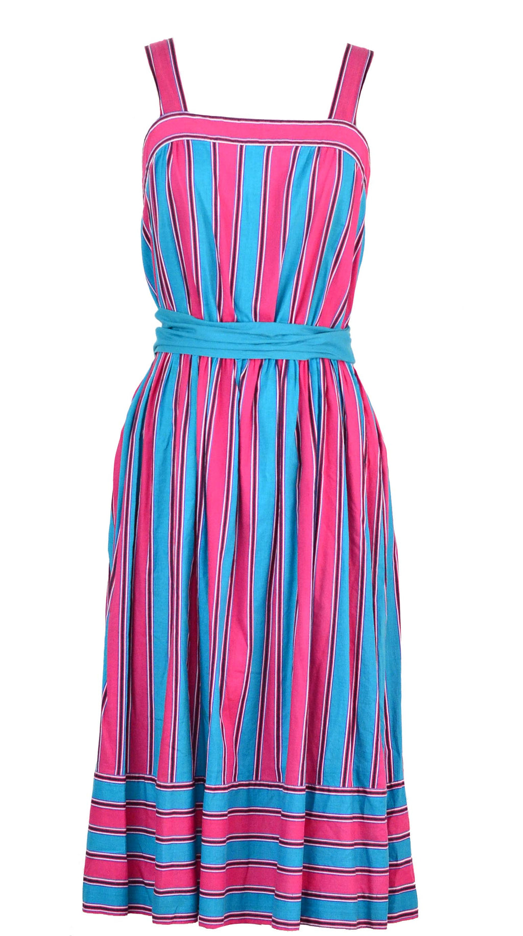 Striped Dress w/ belt
