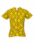 Yellow Graphic Mod Top