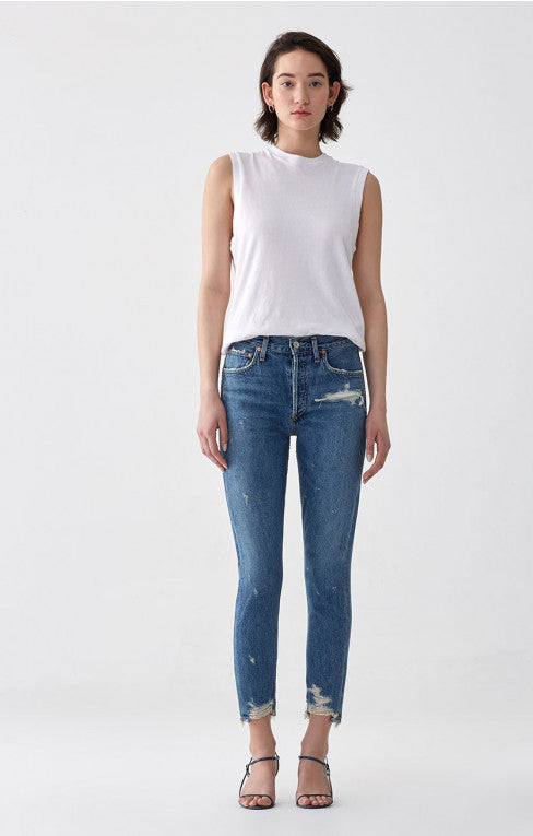 Agolde Jamie High Rise Jean in Grade