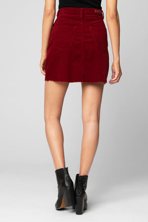 Cherry Corduroy Skirt