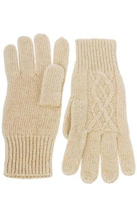 Beige Knit Gloves